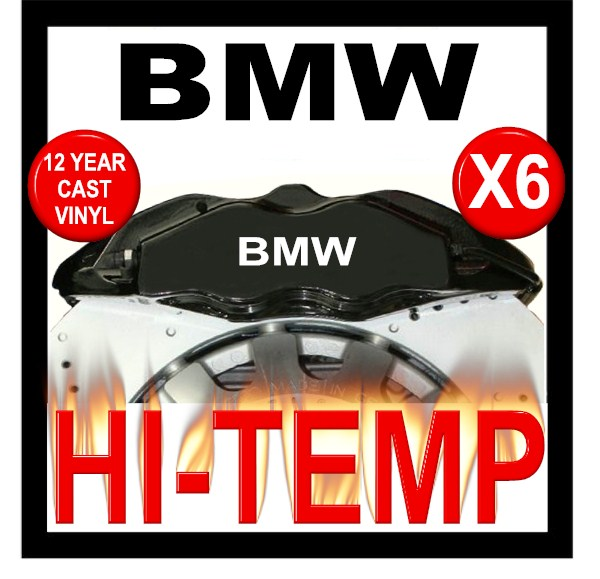 BMW HIGH TEMPERATURE BRAKE CALIPER DECAL SET - Bmw brake caliper decals
