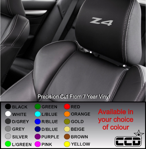 Bmw Z 4 Price: BMW Z4 Logo Car Seat Decals