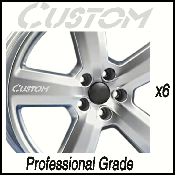 Custom design chrome car wheel decals prior approval needed