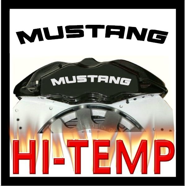 Ford Mustang Brake Caliper Decals Stickers Graphics Set