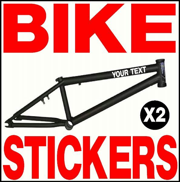 personalised bike frame decals