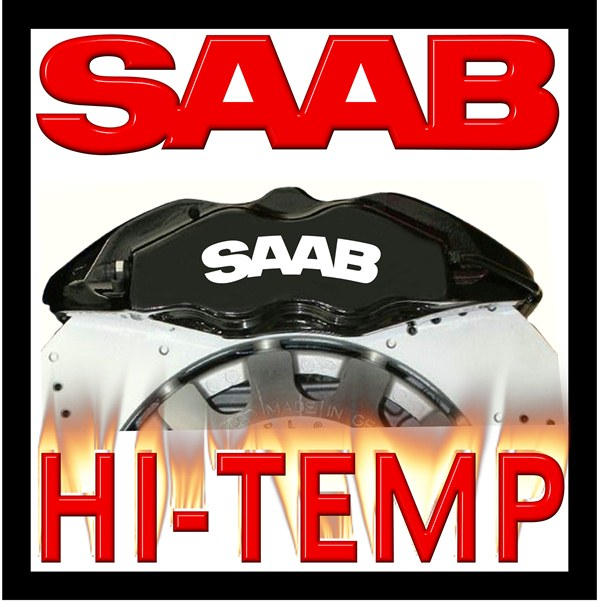 Saab High Temperature Brake Caliper Decal Set P on Land Rover Freelander Engine