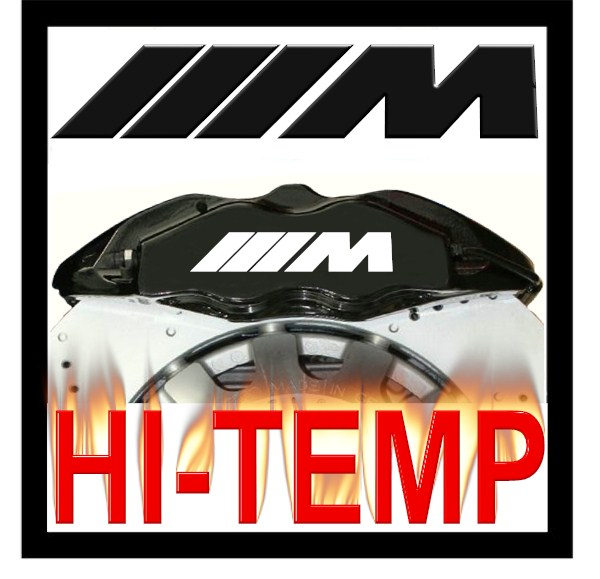 Bmw M Power Logo High Temperature Brake Caliper Decal Set P