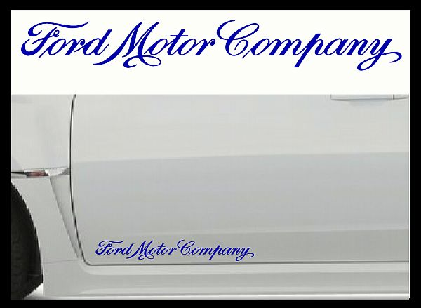Ford Motor Company Decals