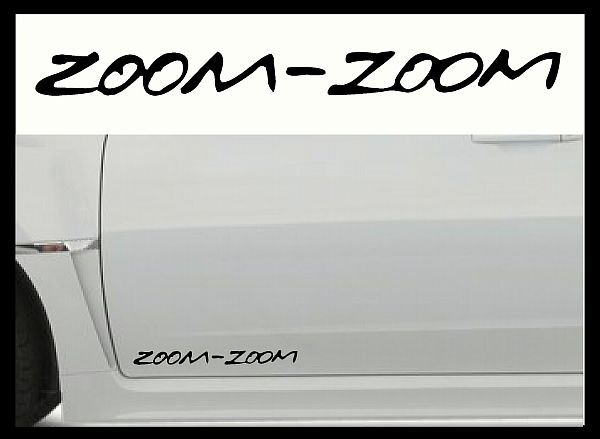 Mazda Zoom Zoom Car Body Decals