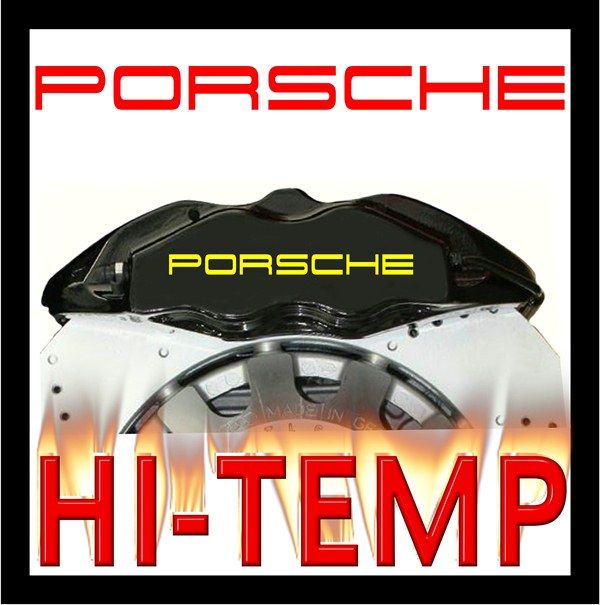 Porsche High Temperature Brake Caliper Decal Set